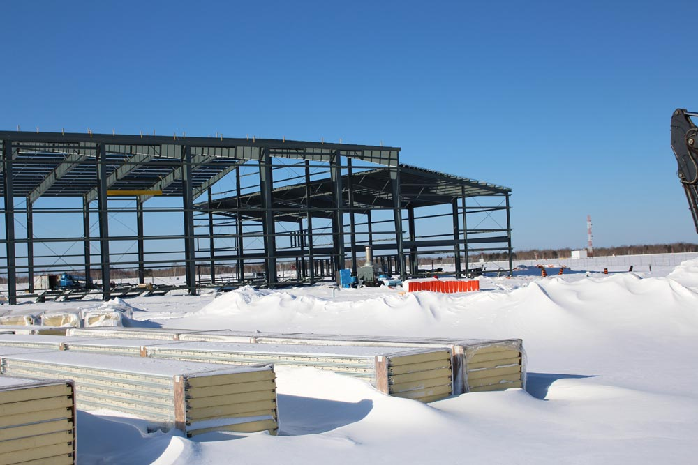 Peterborough Maintenance Building, Construction Management and Pre-Engineered Steel Building by Comsteel Building Solutions