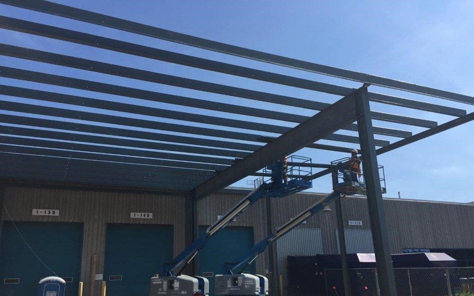 Toyota Motor Manufacturing Canada Addition, Pre-Engineered Metal Building Systems by Comsteel Building Solutions