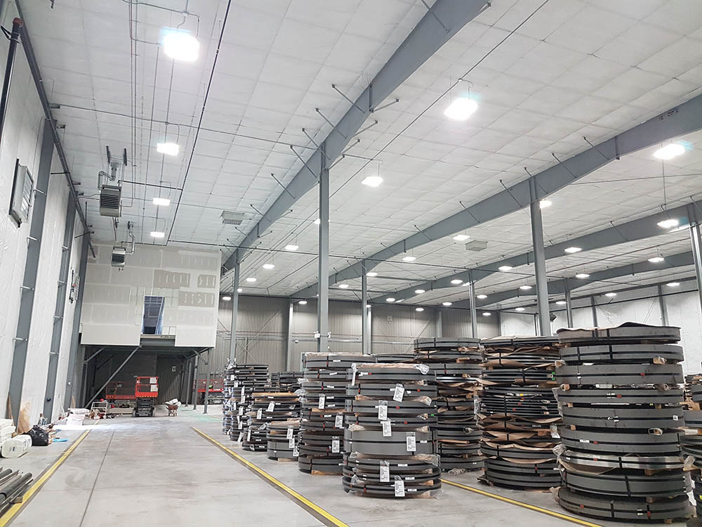 Nova Steel Addition in Stoney Creek - Pre-Engineered Metal Building Systems by Comsteel Building Solutions