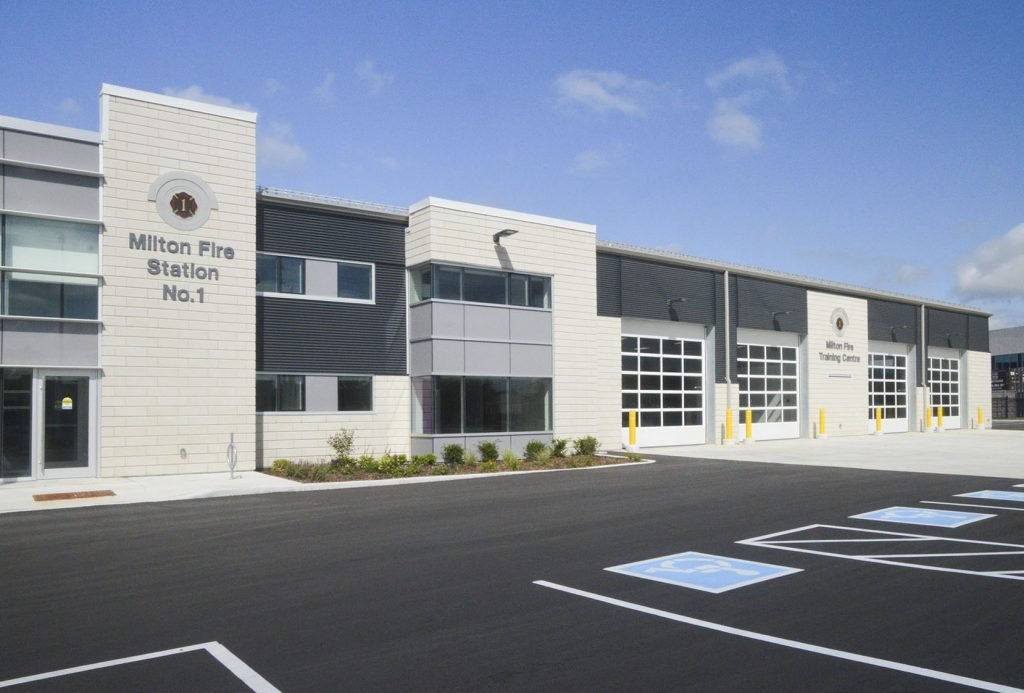 Comsteel Building Solutions - Milton Fire Station #1 - Steel Roofing, Insulated Metal Panel, Steel Siding